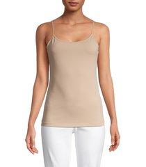 saks fifth avenue women's cotton-blend cami top - white - size l