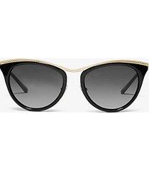 mk occhiali da sole azur - nero (nero) - michael kors