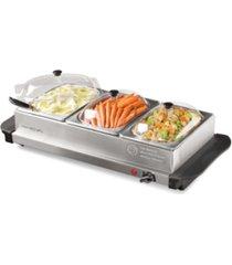 homecraft hcbs15ss 1.5 qt triple buffet warmer