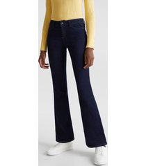 jeans bootcut medium rise azul marino esprit