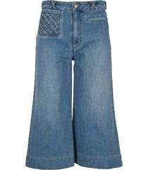 see by chloé see by chloe signature denim shorts