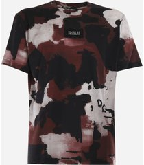 dolce & gabbana cotton t-shirt with camouflage print