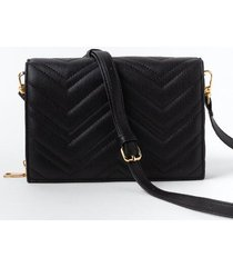 veronica quilted wallet - black