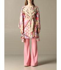 emilio pucci cape emilio pucci silk kimono with vivara print