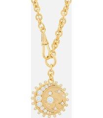 vivienne westwood women's dorina medal pendant - gold white