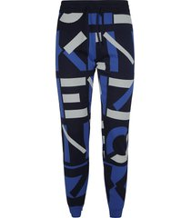 kenzo logo all-over print trousers
