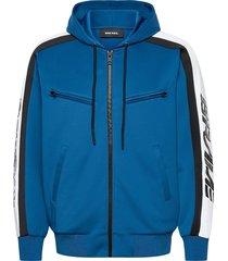 s-steel sweat-shirt hoodie trui blauw diesel men