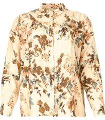 blouse met bloemenprint turlu  naturel