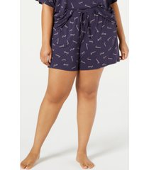 jenni plus-size ultra soft core pajama shorts, created for macy's