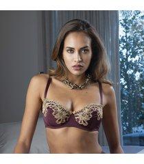 ambra lingerie bh's titanium balconette bh rood 432