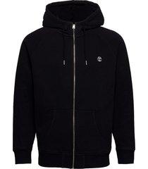 e-r basic reg zip thru hoodie trui zwart timberland