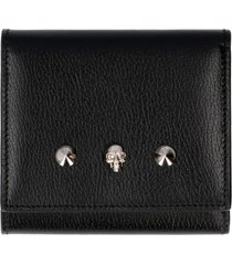 alexander mcqueen logo leather wallet