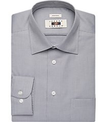 joseph abboud charcoal woven circle pattern dress shirt