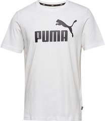 ess logo tee t-shirts short-sleeved vit puma