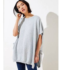 loft flecked side tie poncho