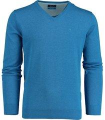 bos bright blue pullover blauw v-hals 20105vi01bo/240 blue