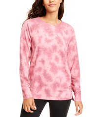 ideology tie-dyed high-low hem sweatshirt, created for macy's