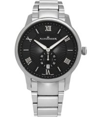 alexander watch a102b-02, stainless steel case on stainless steel bracelet