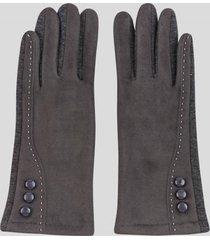 guantes touch gamuza botones grafito baziani