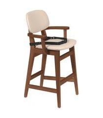 cadeira infantil tramontina 14064131 london amêndoa estofado bege