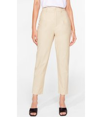 womens taper a chance on me high-waisted pants - beige