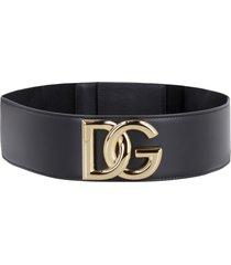 dolce & gabbana leather elasticated belt