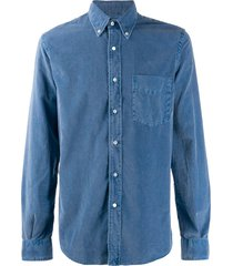 aspesi corduroy shirt - blue