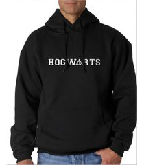 hogwarts deathly hallow potter unisex hoodie black