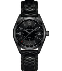 hamilton khaki field silicone strap watch, 40mm