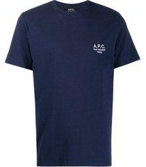 a.p.c. blue cotton t-shirt
