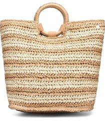 carried awaystripe beach bag beach wear beige seafolly