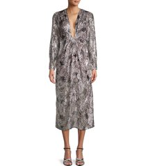 iro women's rouniea twist-front dress - grey - size 34 (2)
