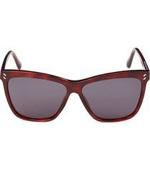 stella mccartney women's 57mm square sunglasses - havana