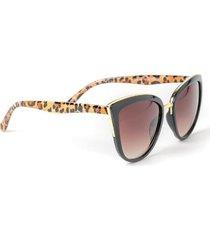 zoe leopard cat eye sunglasses - leopard