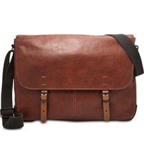 155caaed1c9 fossil men's buckner leather messenger bag