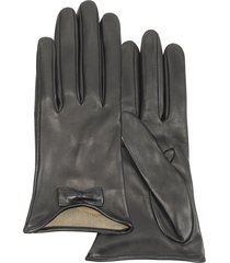 forzieri designer women's gloves, leather gloves with bow