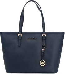 michael michael kors jet set travel tote - blue