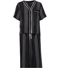 dkny color theory top & capri pj set pyjamas svart dkny homewear