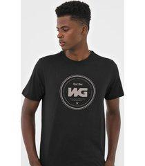 camiseta wg debossing preta - kanui