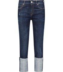 skinny cuffed leg jeans