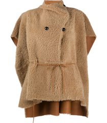 isabel marant double-breasted reversible cape - neutrals