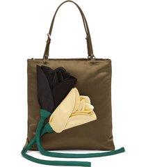 prada blossom handbag - green