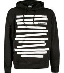 dsquared2 tape logo hoodie