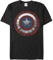 marvel men's captain america geometric detailed shield short sleeve t-shirt