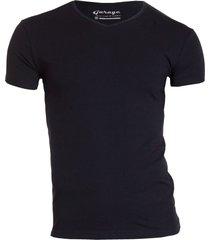 garage basis t-shirt v-hals bodyfit zwart