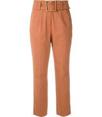 eva tailored belt trousers - orange