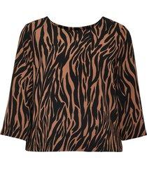 opus gestreepte blouse falesha zebra