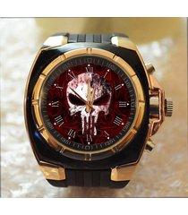 the punisher skull superhero commando army style chunky gift wrist watch