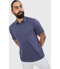 polo azul under armour charged cotton scramble