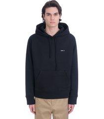 oamc sweatshirt in black cotton